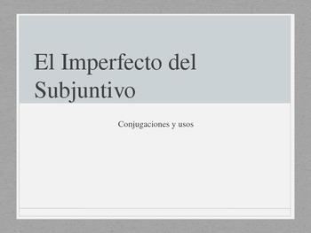 Imperfect Subjunctive in Spanish