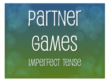 Spanish Imperfect Partner Games
