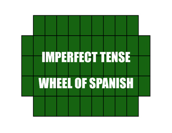 Spanish Imperfect Wheel of Spanish