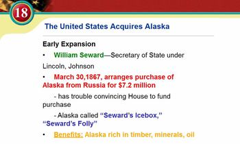 Imperialism: Alaska & Hawaii Video Lecture - Great for Spe