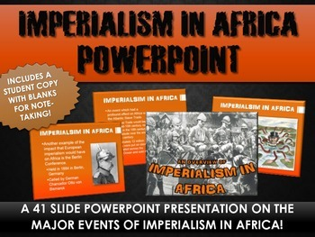 Imperialism in Africa - PowerPoint with Student Handout (4