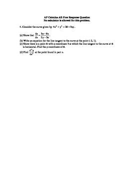 Implicit Differentiation AP Question