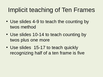 Teaching Using Ten Frames