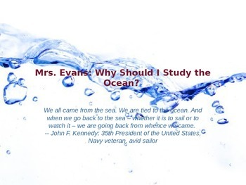 Importance of Studying the Ocean Powerpoint