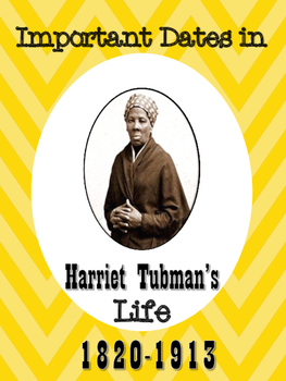 Important Events in Harriet Tubman's Life Packet