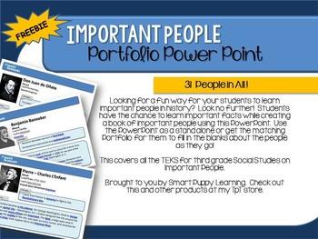 Important People PowerPoint FREEBIE