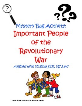 Important People of the Revolutionary War Mystery Bags