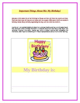 Important Things About Me: My Birthday!