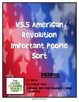 Important Virginians During the American Revolution Sort (VS.5)