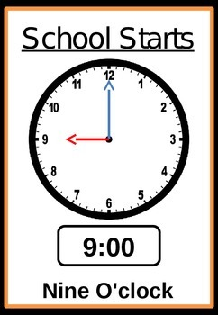 Important times of day - editable.