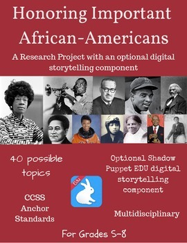 Important/Famous African-Americans: Research Project + Dig