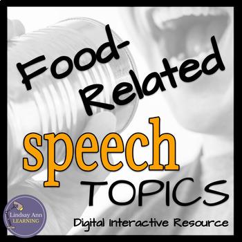 Public Speaking Activity - Food Topics - Digital Interacti