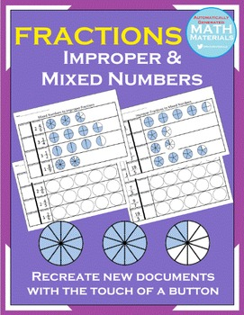 Improper Fractions & Mixed Numbers - Automatic Generator