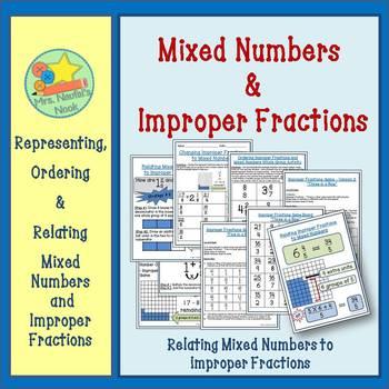 Improper Fractions - Representing, Ordering & Relating Imp