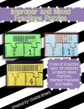 Improper and Mixed Fraction Puzzles