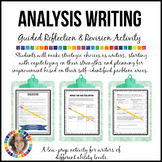 Analysis Writing Guided Reflection and Revision Activity