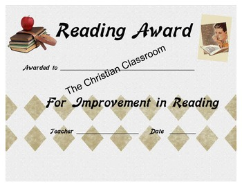Improved Reading Certificate