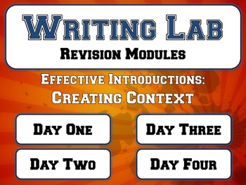 Effective Introductions: Creating Context - Writing Lab Re