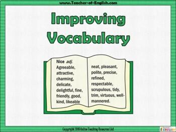 Improving Vocabulary