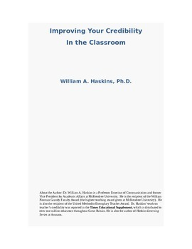 Improving Your Credibility in the Classroom Through Communication