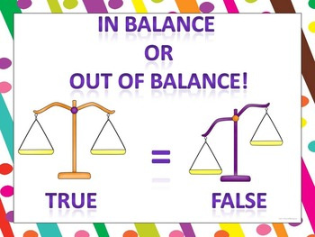 In Balance or Out of Balance: Equality (True or False)