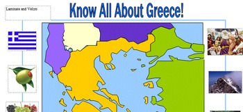 In-Class Support Map of Greece Laminated Pre- and Post ass