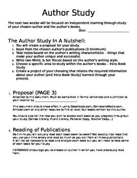 In Depth Author Study