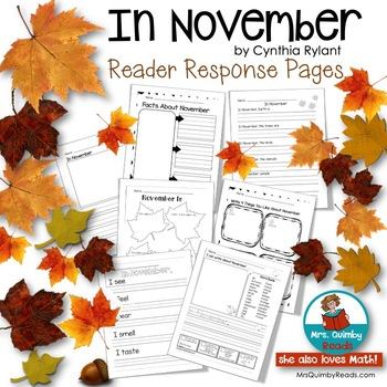 In November -  by Cynthia Rylant -Writing Prompts for Begi