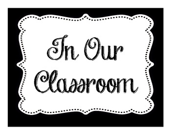 In Our Classroom We Do