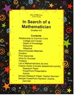 In Search of a Mathematician: a cross-curricular investigation