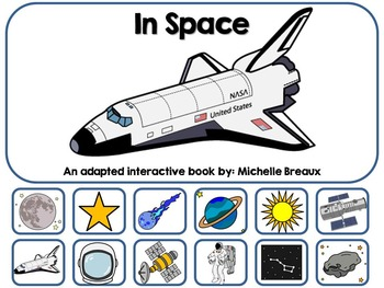 In Space Adapted Interactive Book {Autism, Early Childhood