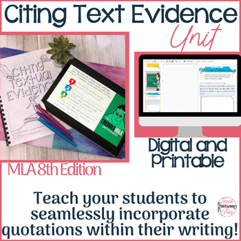 In-Text Citation Lesson, Practice, and Assessment, MLA 8th