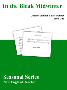 In The Bleak Midwinter Duet for Clarinet and Bass Clarinet