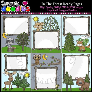 In The Forest 8 1/2 x 11 Ready Pages / Cover Pages Color &