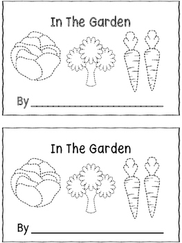 In The Garden - A Trace And Color Emergent Reader