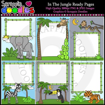 In The Jungle 8 1/2 x 11 Ready Pages / Cover Pages Color &