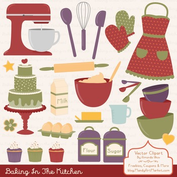 In The Kitchen Baking Clipart & Vectors in Autumn - Baking