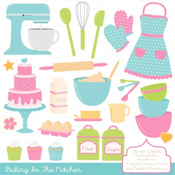 In The Kitchen Baking Clipart & Vectors in Fresh - Baking