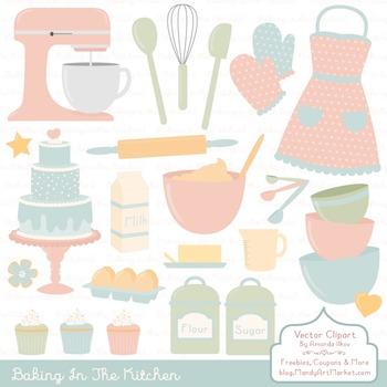 In The Kitchen Baking Clipart & Vectors in Grandmas Garden