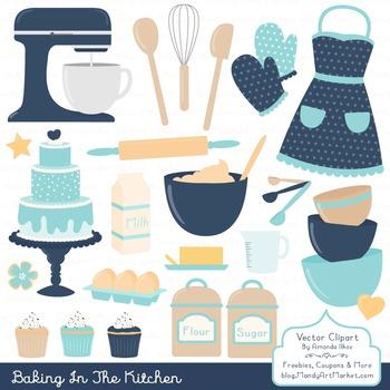 In The Kitchen Baking Clipart & Vectors in Oceana - Baking