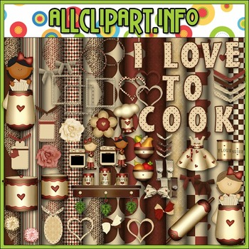In The Kitchen Commercial Use Clip Art Kit - Alice Smith Clip Art