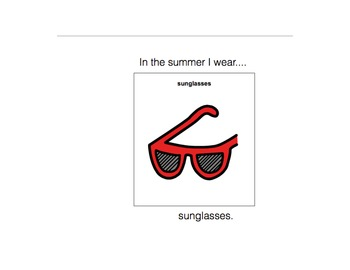 In The Summer I Wear-Adaptive Book (Autism/early Language