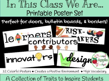 In This Class You Are... {Printable Poster Set}