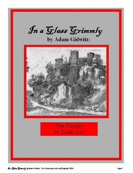 In a Glass Grimmly:  Ten Puzzles for Vobulary and Comprehension