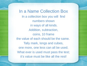 In a Name Collection Box