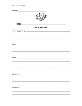 """""""In a Nutshell"""" Summary Lesson Plan"""
