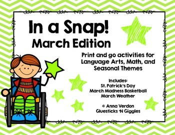 In a Snap! No Prep Activities for March
