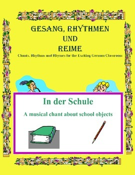 German Musical Chant About School Objects and Imperatives