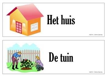 In en bij het huis - vocabulary for the house in Dutch