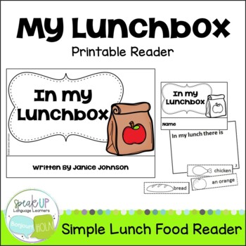 In my Lunchbox Emergent Reader & Build-A-Book {Young Reade